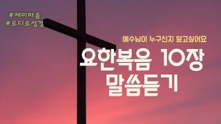 [오디오성경] 성경 읽어주기/요한복음/말씀듣기/성경as…