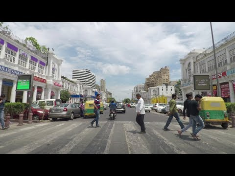 Driving in Delhi 4K (Connaught Place) - India