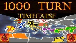 1000 Turn TimeLapse: Medieval 2 Total War (A.I. Only)
