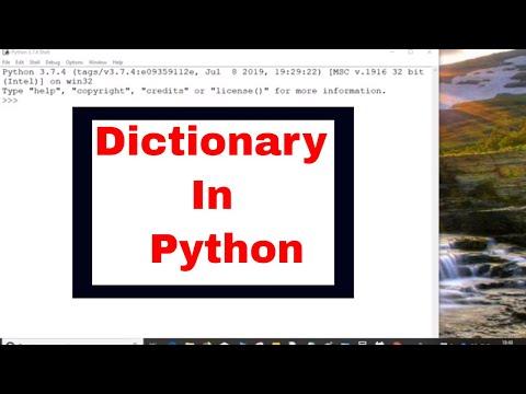 PYTHON TUTORIAL: PYTHON DICTIONARY DICTIONARY IN PYTHON