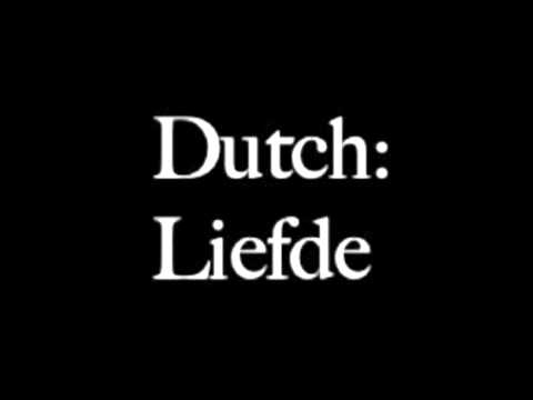 how to say love in dutch