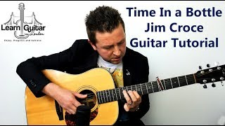 How To Play Time In A Bottle - Guitar Lesson - Jim Croce - Drue James - FREE TAB
