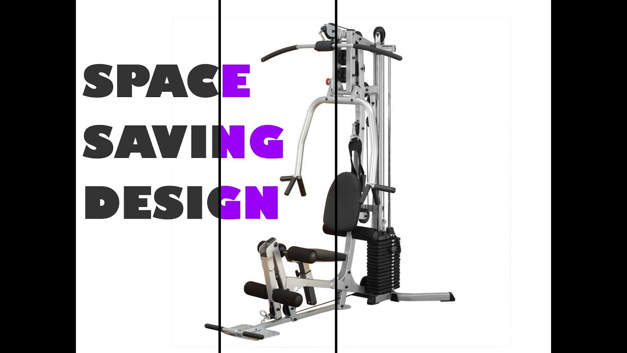 Best home gym fitness workout space saving machine ships