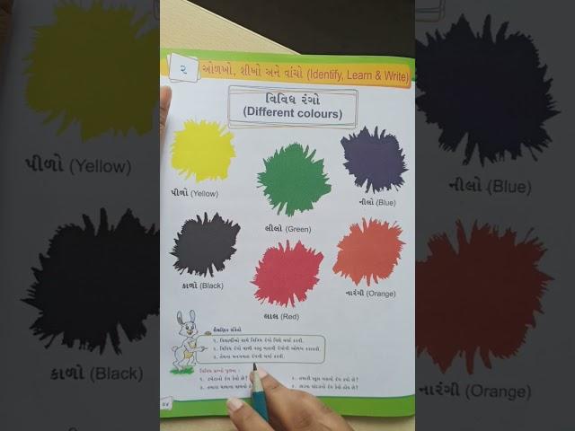 Std-1, Sub-Gujarati, વિવિધ રંગો (different colours)