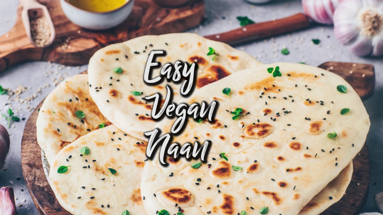 Vegan Naan Bread * Easy Homemade Flatbread * Quick & easy Recipe (dairy-free, egg-less)