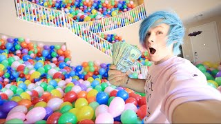 HIDING $1,000 IN 10,000 BALLOONS  PRANK WARS