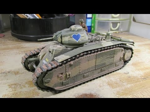 Building Tamiya B1 Bis Tank. From Start to Finish