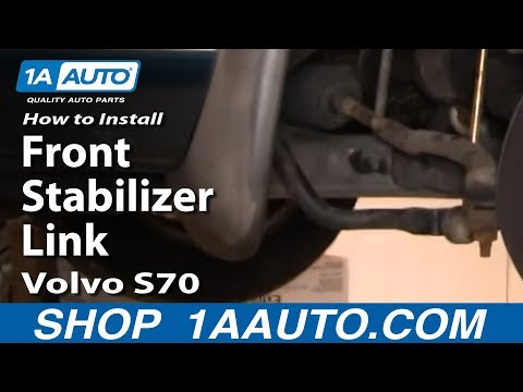 How To Install Replace Front Stabilizer Link Volvo S70 98-00 1AAuto.com