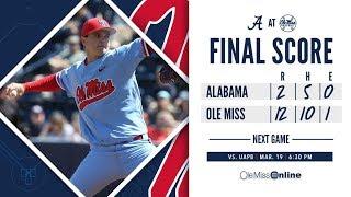 HIGHLIGHTS | Ole Miss defeats Alabama 12 - 2 (Game 3) - 3/17/19 #WAOM #FinsUpRebels