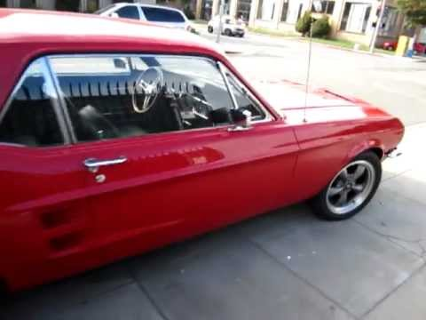 1967 red ford mustang coupe walkaround - Red 1967 Ford Mustang Coupe