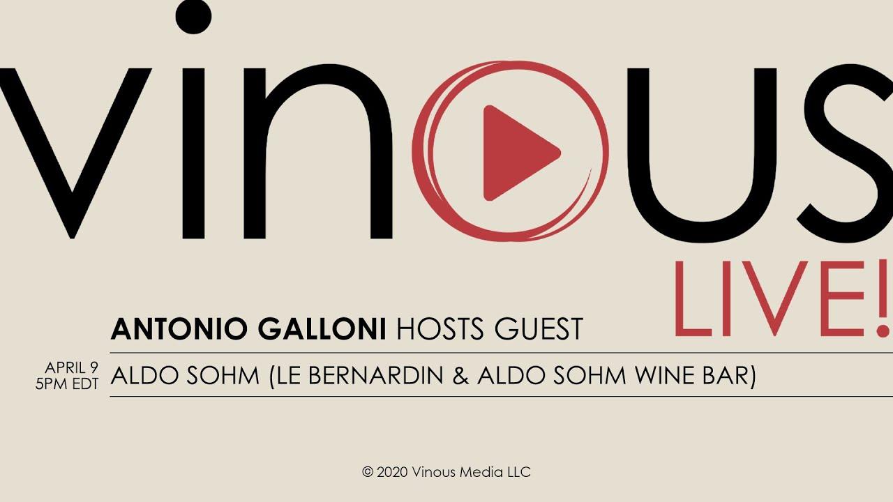 Download Vinous Live! with Antonio Galloni and guest Aldo Sohm of Le Bernardin & Aldo Sohm Wine Bar