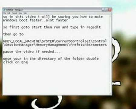 Make Windows XP Boot Faster