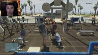 """TIOS MUSCULOSOS Y MUCHOS TIROS"" GTA V Gameplay - 1080p HD (XBOX360/PS3)"