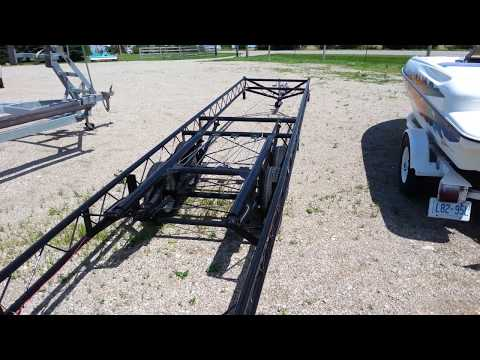 22' to 24' Center Lift pontoon trailer- tandem axle (Hoosier