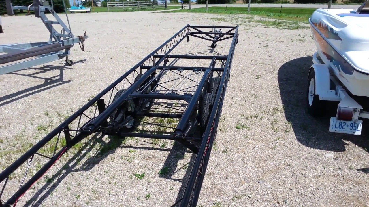 22' to 24' Center Lift pontoon trailer- tandem axle (Hoosier Classic)