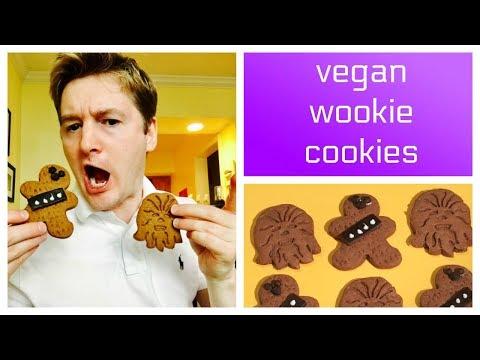 Vegan Gingerbread Wookiee Cookies