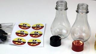 Garrafinha Boliche ou Lampada - Ideia de como Personalizar - Belas Cores