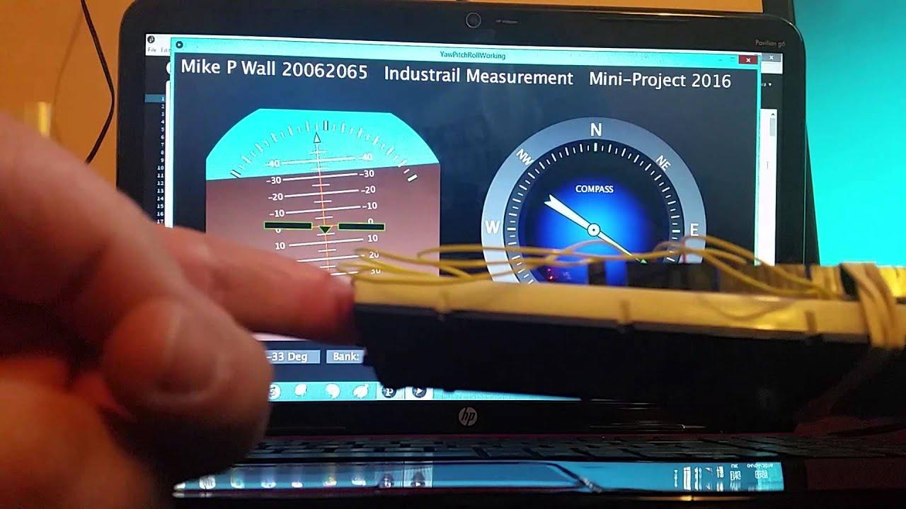 Yaw Pitch Roll using MPU92/65 and MEGA2560 Arduino board by M Wall