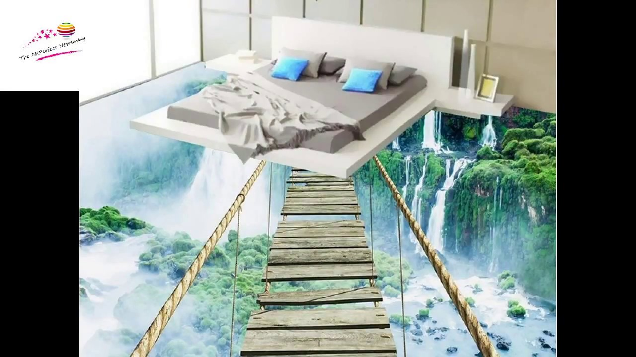 Amazing 3D room tiles - YouTube