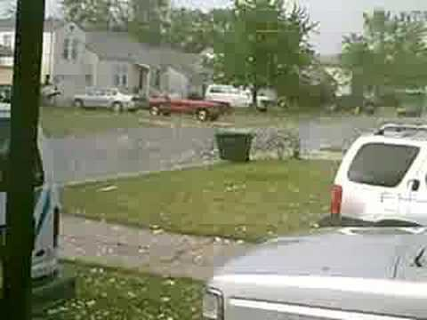 Hail Storm in Midwest City, Oklahoma 5/1/2008