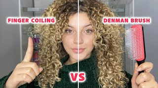 FINGER COILING VS THE DENMAN BRUSH (what is best for curl definition and longevity?)