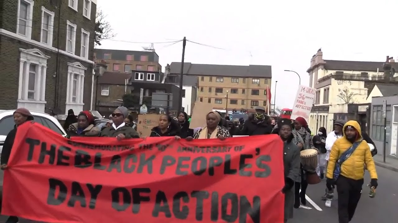 New Cross Fire 40th Anniversary Protest March - London