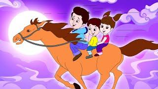 Lakdi ki kathi | लकड़ी की काठी | Popular Hindi Children Songs | Animated Songs by JingleToons