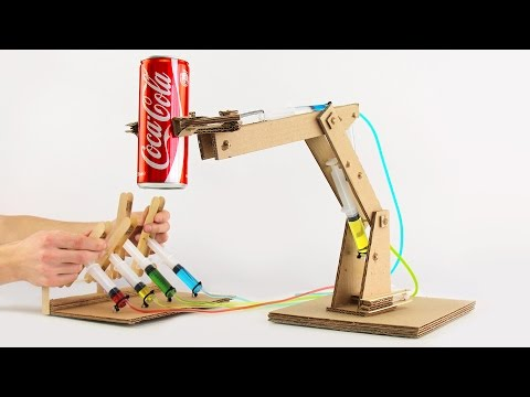 Thumbnail: How to Make Hydraulic Powered Robotic Arm from Cardboard