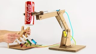 How to Make Hydraulic Powered Robotic Arm from Cardboard thumbnail