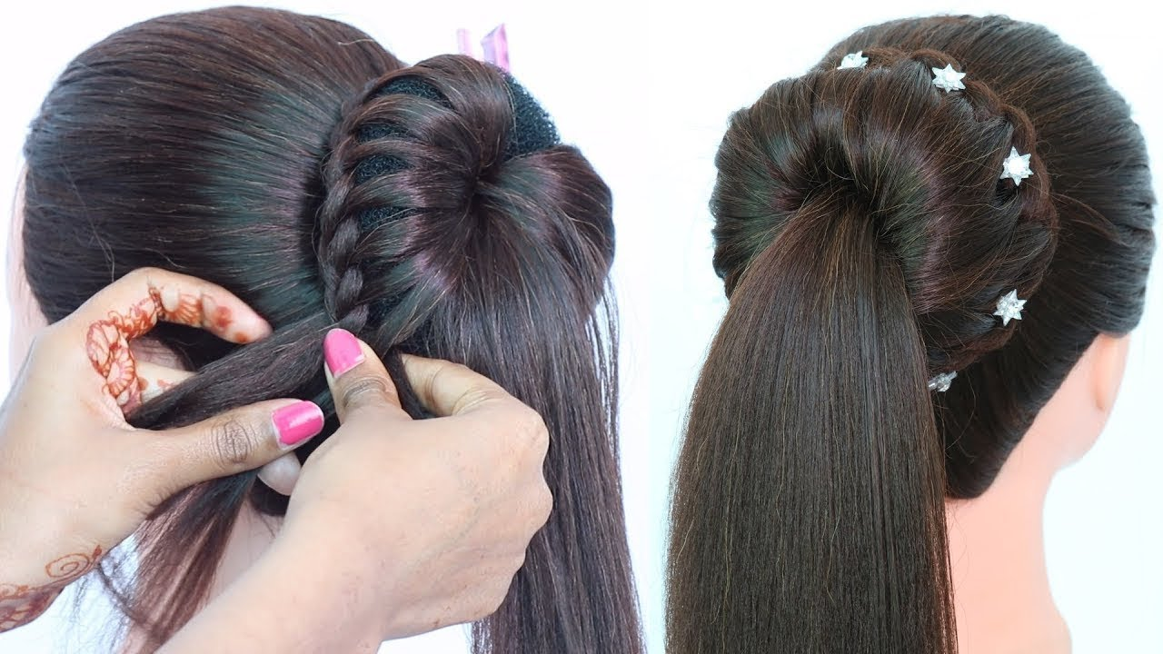 easy party wear hairstyles with trick | hairstyle for girls
