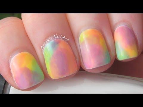 easy watercolor nails & diy sheer