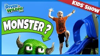BEST MONSTER TAG EVER | Kids run from zombie monster dad | River & Wilder Show