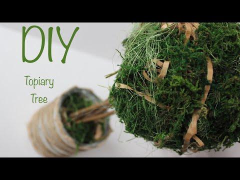 DIY Topiary Tree / Топиарий своими руками / Easy Moss Topiary / Tutorial