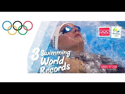 Day 2:3 swimming world records