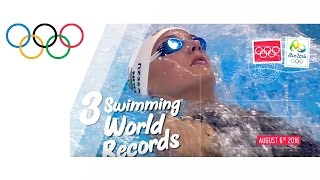 Day 2: 3 swimming world records