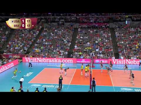 USA vs Brazil   volleyball 2015 FIVB World Grand Prix Finals