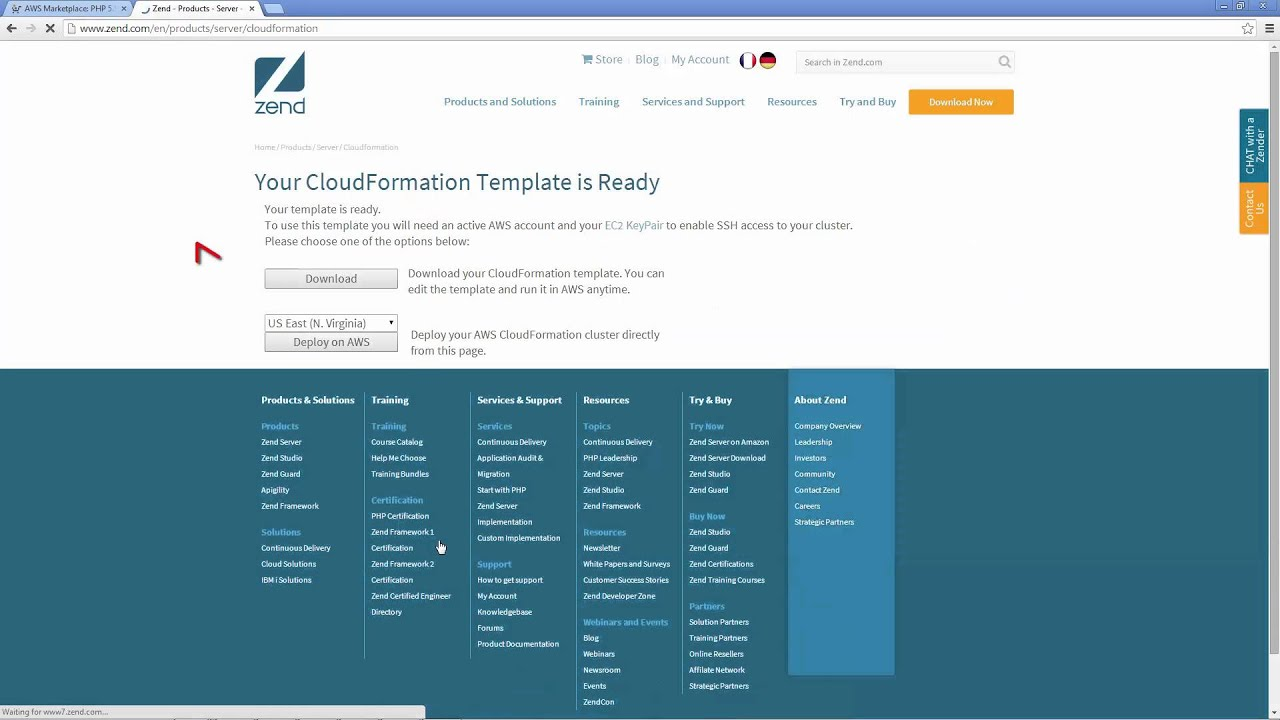 AWS Integration- Zend Server 9