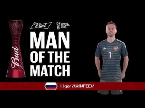 Igor AKINFEEV (Russia) - Man of the Match - MATCH 51