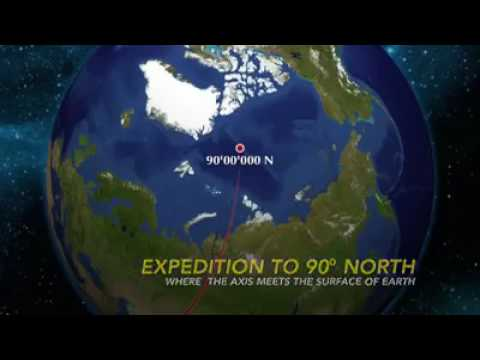 Trip to North Pole 90°