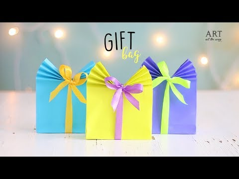 DIY Paper Gift Wrap / Bag (Easy) | Paper Craft Ideas