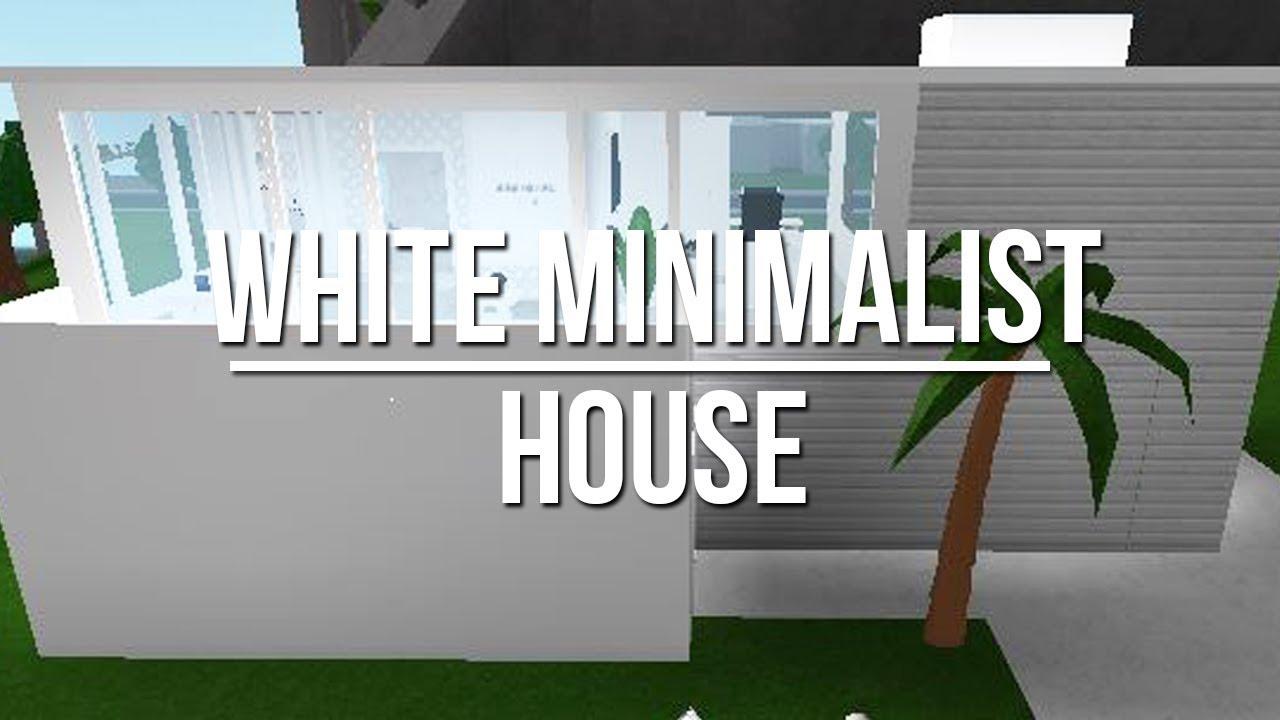 Roblox Welcome To Bloxburg White Minimalist House 96k Youtube