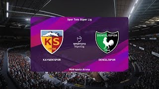 PES 2020   Kayserispor vs Denizlispor - Turkey Super Lig   21 September 2019   Full Gameplay HD