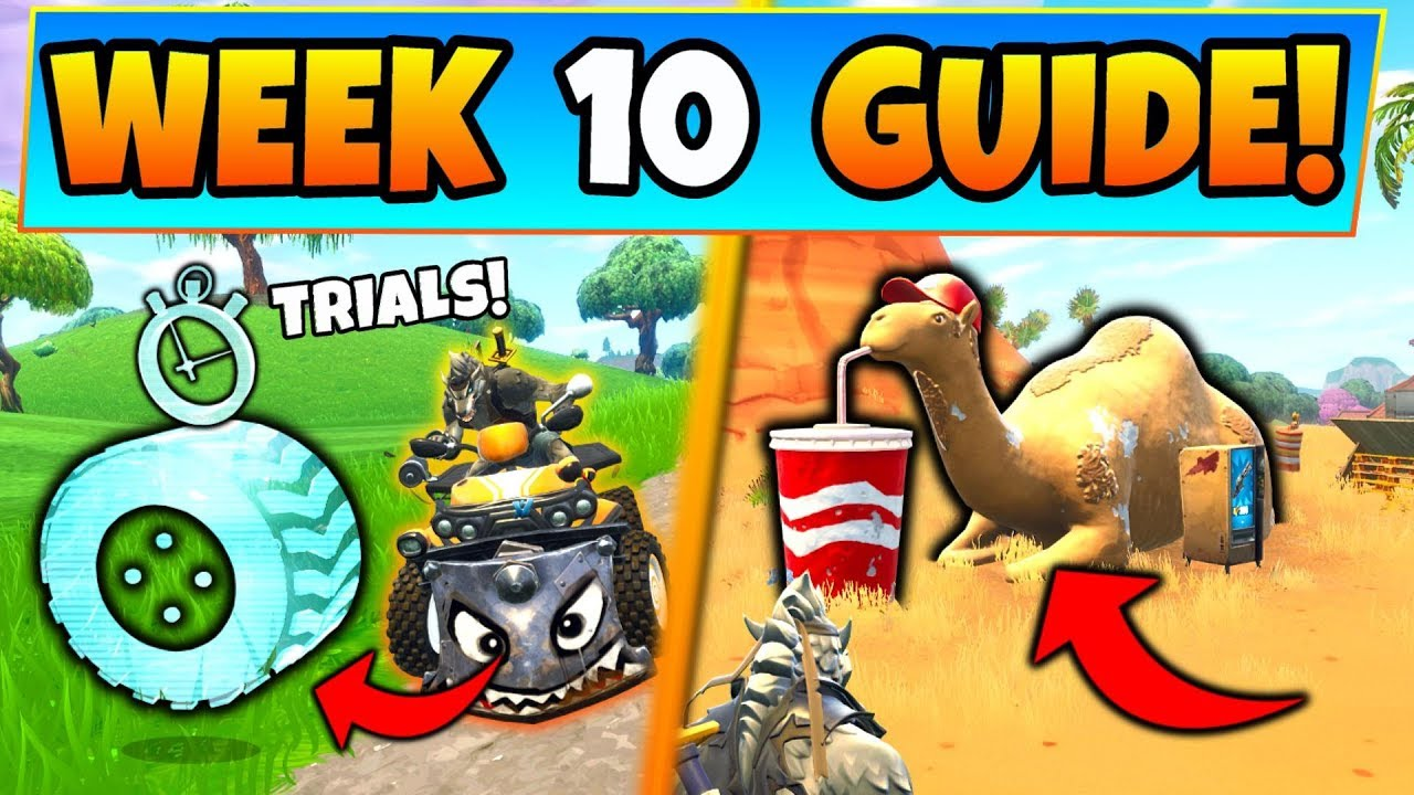 Fortnite Week 10 Challenges Guide Vehicle Timed Trials Camel