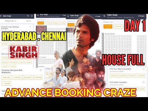 SHAHID KAPOOR'S KABIR SINGH ADVANCE BOOKING CRAZE IN HYDERABAD CHENNAI BHUBANESWAR HOUSEFULL SHOWS