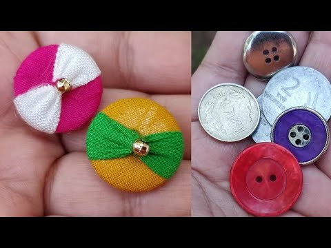 How to make Designer Fabric/Cloth Buttons at Home Without Machine.