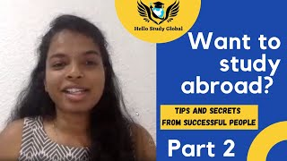 Tips And Secrets To Study Abroad | HSG Students Sharing Their Experience | Part 2