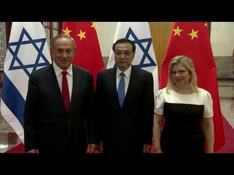 PM Netanyahu Meets Chinese PM Li Keqiang