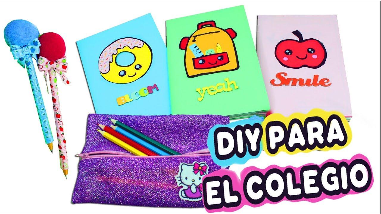 3 manualidades faciles para regreso a la escuela colegio - Curso manualidades madrid ...