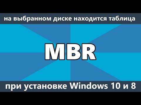 Как удалить таблицу mbr с диска
