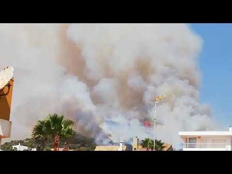 Incendio en Faro de Algeciras